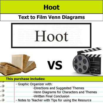 Hoot - Text to Film Venn Diagram & Written Conclusion