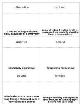 Hoot Vocabulary Bingo
