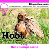 Hoot by Carl Hiaasen Discussion Question Cards