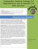 Hoot by Carl Hiaasen Independent Reading Package with Quizzes!