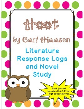 Hoot by Carl Hiaasen: Literature Response Logs