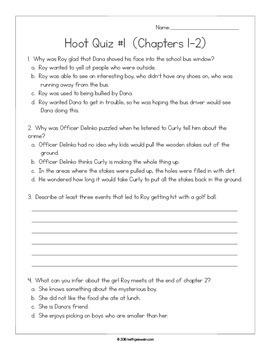 Hoot Novel Study Bundle