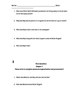 """Hoot"" by carl hiaasen Chapter Questions"