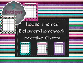 Hootie Themed Behavior/Homework Incentive Charts