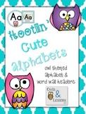 Hootin' Cute Alphabets - Owl Themed