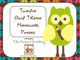 Hooting for No Homework! (Owl Theme Homework Passes)
