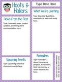 """""""Hoots & Hollers"""" Owl Newsletter Template"""
