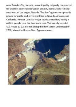 Hoover Dam Handout with activities