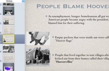 Hoover and the Start of the Great Depression Powerpoint/Quiz Package