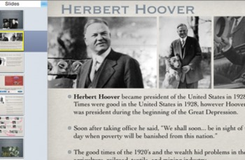 Hoover and the Start of the Great Depression Powerpoint/Qu