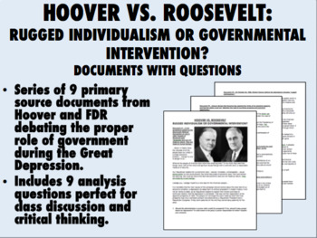 Hoover vs. Roosevelt: Individualism vs. Intervention - Documents with Questions