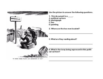 Hoovervilles-The Great Depression- Read and Write The Room Scavenger Hunt