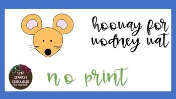Hooway for Wodney Wat FREEBIE NO PRONT SPEECH THERAPY