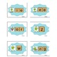 Hop Across Phonics Matching Card Game Winter