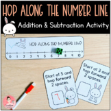Hop Along the Number Line! Kindergarten Addition and Subtraction Task Cards