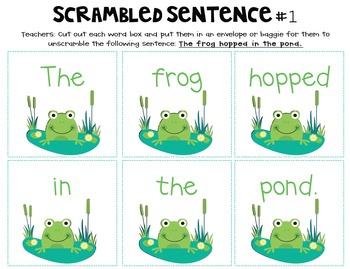 Hop, Frog, Hop! {Short Vowel /o/ Word Work}