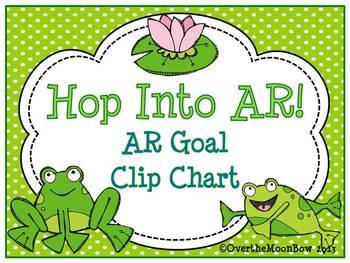 Hop Into AR ~ Frog Themed AR Goal Clip Chart