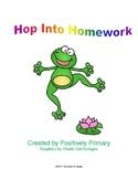 Hop Into Homework Packet