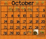 Hop Into October!  Frog Themed Calendar Activities for the SMART Board