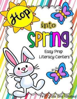 Hop Into Spring-Easy Prep Literacy Centers
