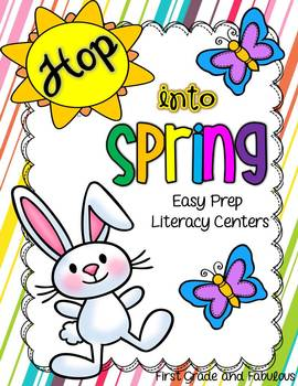 Hop Into Spring-Easy Prep Literacy Centers