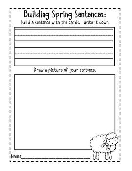 Hop Into Spring- Sentence Building Fun!