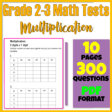 2nd & 3rd Grade Math Review Multiplication Practice Worksheets (PDF)