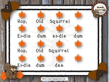 Hop Old Squirrel Song, Activity, and Orff Arrangmenet