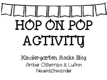 Hop On Pop Word Activity