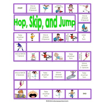 Hop, Skip, and Jump:  Action Verbs