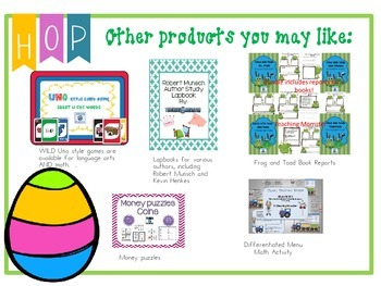 Hop-To-It An Addition and Subtraction SCOOT Game SAMPLER