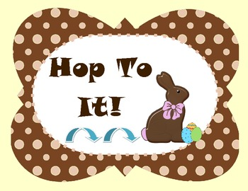 Hop To It!  Skip Counting Center~ CCSS