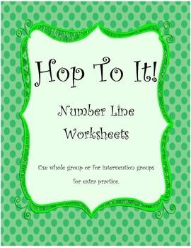 Hop To It number line worksheets