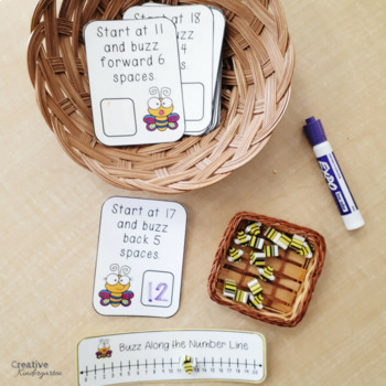 Hop and Buzz Along the Number Line Addition and Subtraction Task Cards