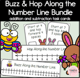Hop and Buzz Along the Number Line Addition and Subtraction Task Cards Bundle