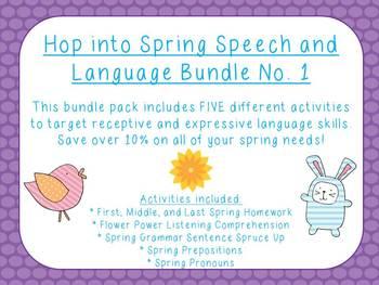 Hop into Spring Speech and Language Bundle No. 1
