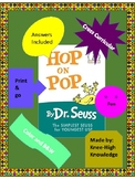 Hop on Pop Book Activities