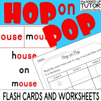 HOP ON POP Flash Cards Worksheets Reading Writing Emergent READERS Dr Seuss