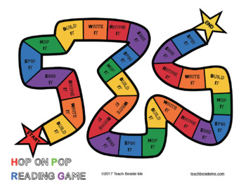 Hop on Pop Reading and Spelling Game