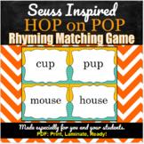 Hop on Pop | Rhyming Matching Game
