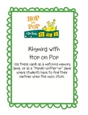 Hop on Pop Rhyming cards for games