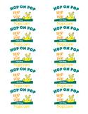 Hop on Pop popcorn labels