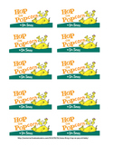 Hop on Popcorn labels for snack bags