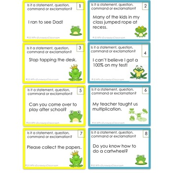 Hop on over! Four Types of Sentences
