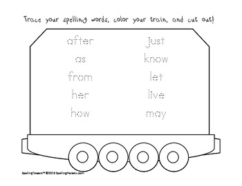 Hop on the Dolch Word Train Set:All words plus nouns - 170 pages/35 sets