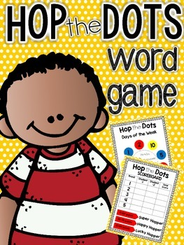 Hop the Dots Word Game