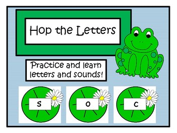 Hop the Letters { Letter and Sound Game}