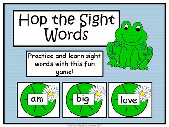 Spring High Frequency Word Game { Hop the Sight Words )