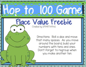 Hop to 100 Place Value Game