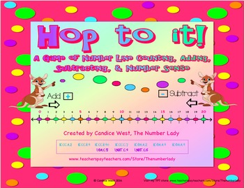 Hop to It! A Game of Number Line Counting, Adding, Subtracting, & Number Sense